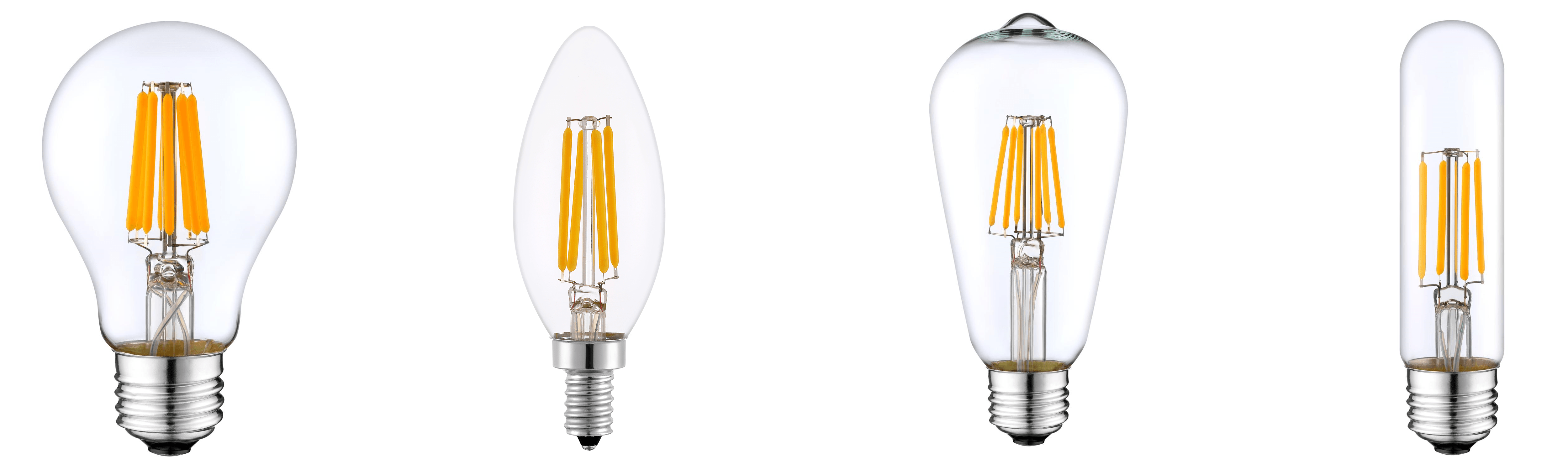 Our entire Edison filament bulb line. Make great replacements for incandescents in bars and restaurants.